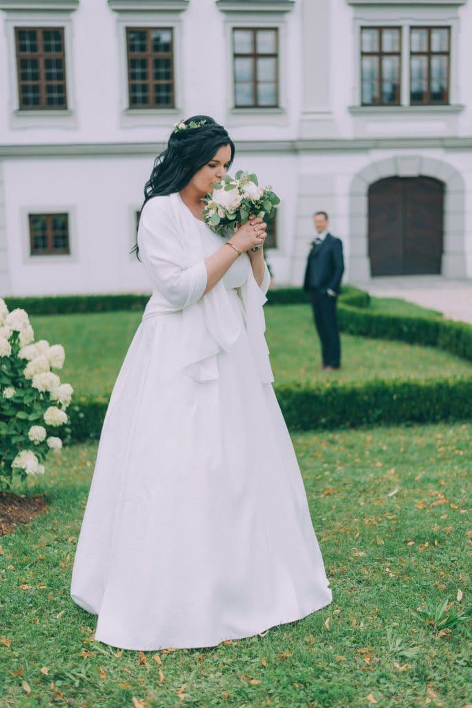 Brautpaarshooting vor dem Schloß Stauff in Oberösterreich